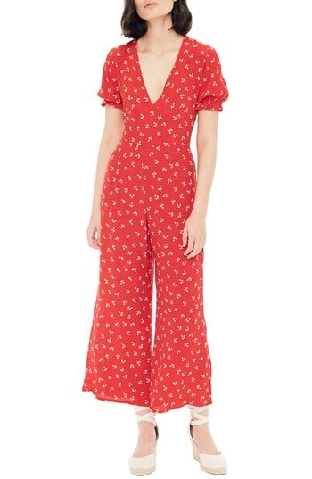 20b5471827fb FAITHFULL THE BRAND Mallory Jeanne Plunge Jumpsuit in 2019