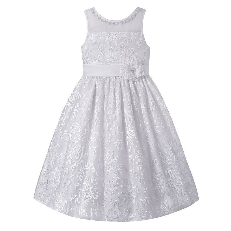 Girls 7 16 Plus Size American Princess Beaded Floral Dress Girls