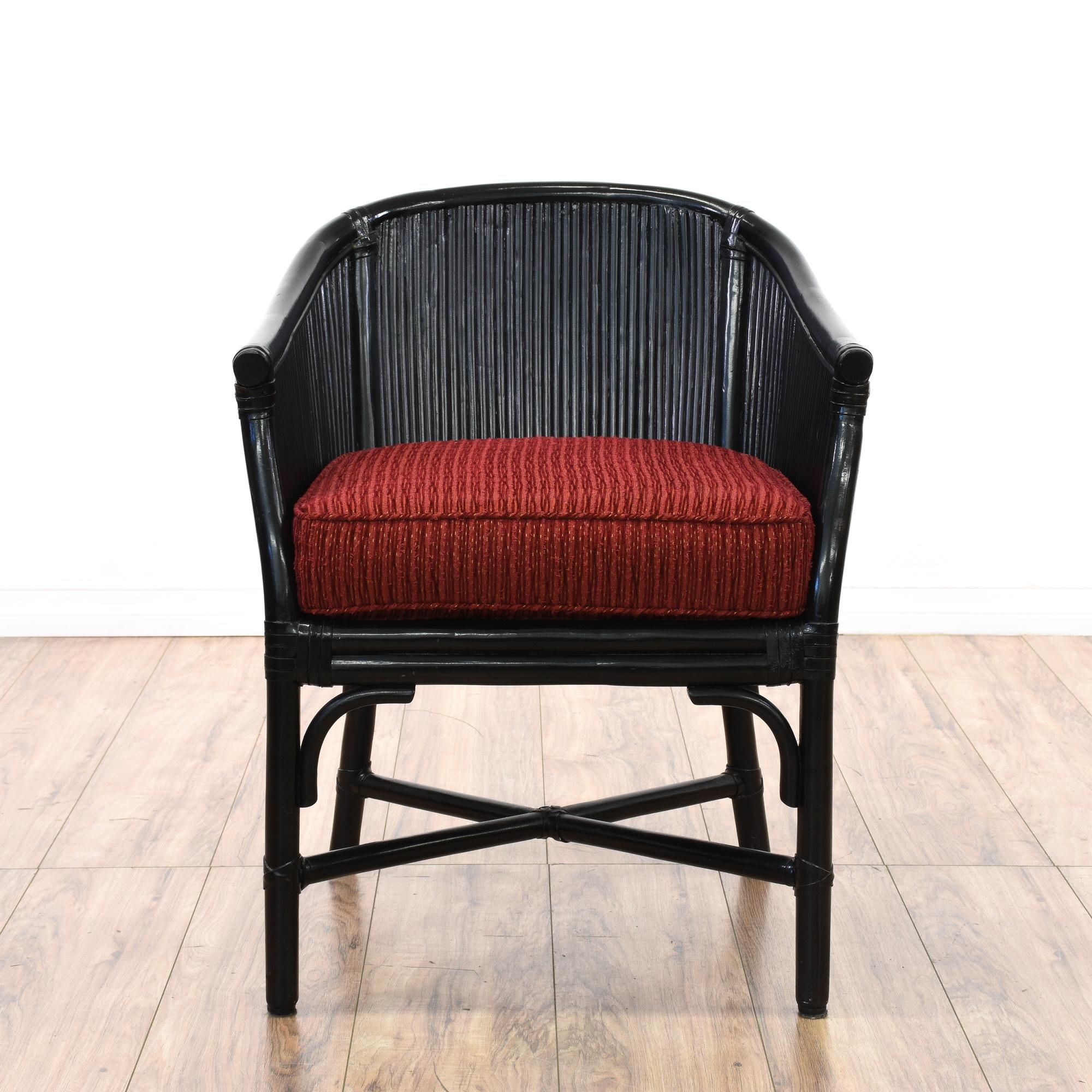Black rattan accent chair bohemian style chairs accent
