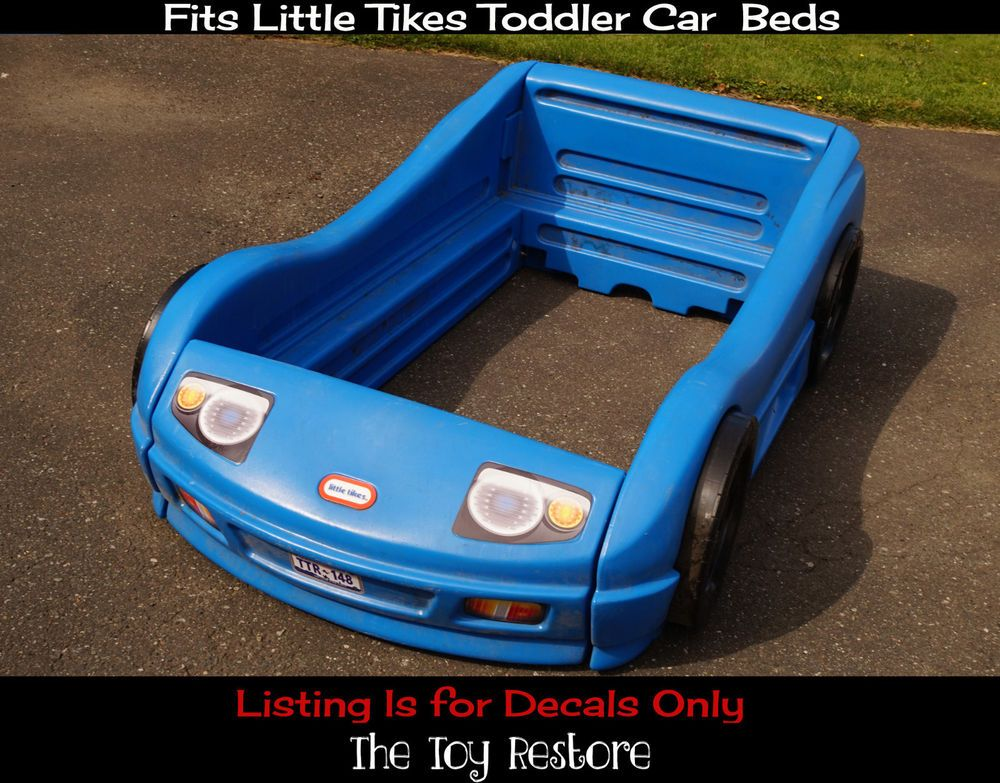 Details About Replacement Decals Stickers Fits Little Tikes Tykes Toddler Car Bed Carbed Coupe Toddler Car Bed Car Bed Cozy Coupe Makeover