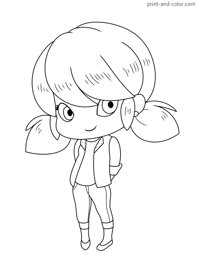 Miraculous Tales Of Ladybug Cat Noir Coloring Page 12 Marinette Dupain Cheng Chibi Coloring Pages Cute Coloring Pages Bug Coloring Pages