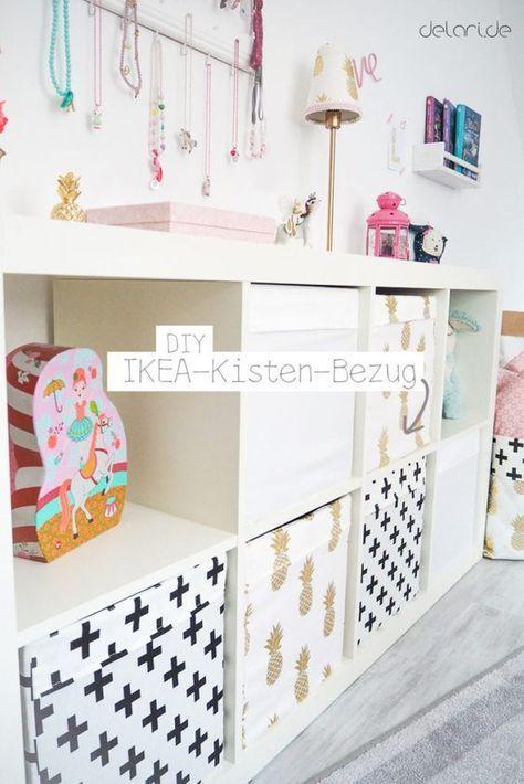 Kinderzimmer Ideen Mädchen DIY Ikea Kallax Ikeahack