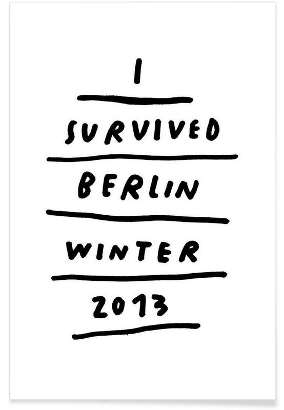 Berlin Winter as Premium Poster by Wasted Rita | JUNIQE