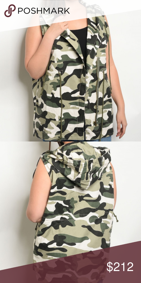 fd2994f5083 PLUS SIZE CAMOUFLAGE VEST Everyone needs a camo vest and this one is a must  have
