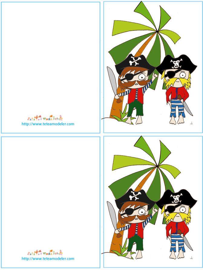Invitation De Pirate Par Tete A Modeler Anniversaire Pirate Carte Anniversaire Theme Des Pirates Prescolaire