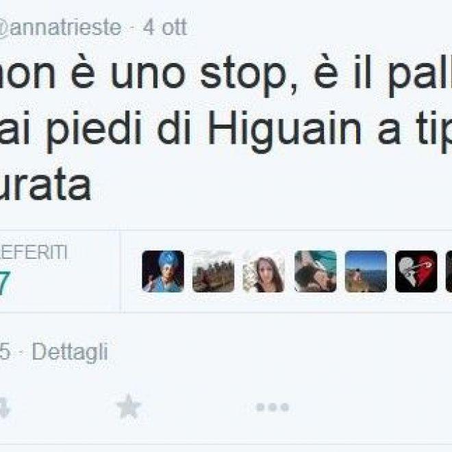 Anna Trieste e lo Stop di Higuain - SOC Napoli Anna Trieste e lo Stop di Higuain: Anna Trieste la Blogger Napoletana del #mammtwee sul suo profilo ufficiale twitter.com ha postato un