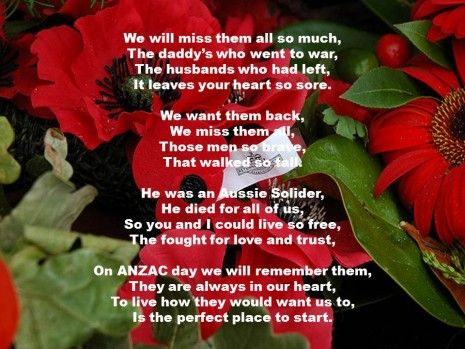 Anzac Day Lest We Forget Poem
