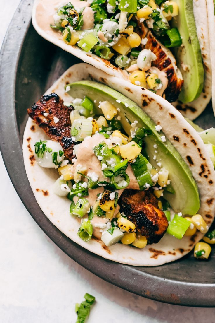 Mexican Street Corn Chicken Tacos Recipe - Little Spice Jar