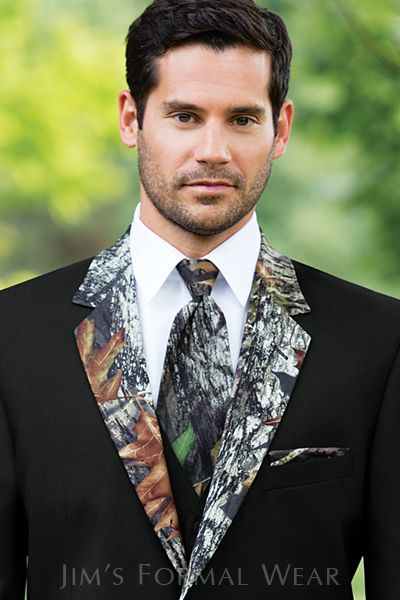 Camo Tux With Matching Windsor Tie
