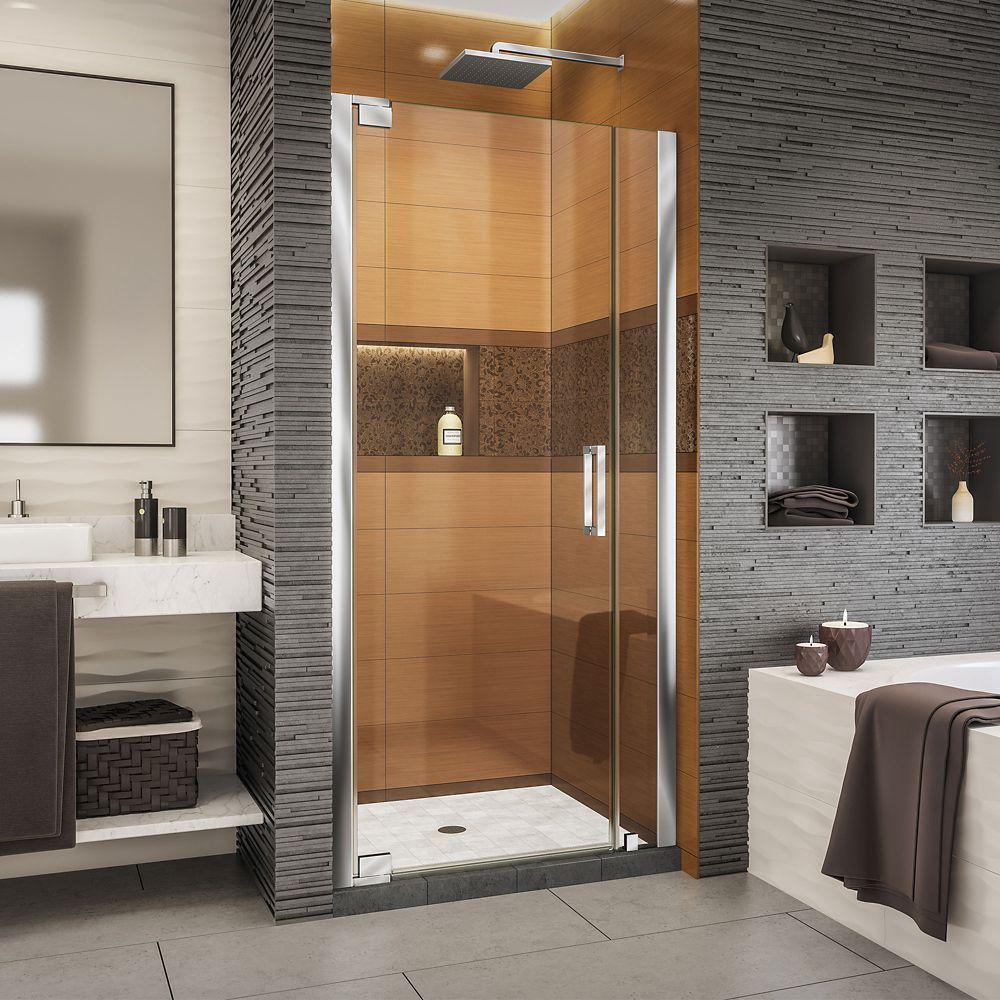 Elegance Ls 29 1 4 31 1 4 Inch W X 72 Inch H Frameless Pivot Shower Door In Chrome Shower Doors Frameless Shower Doors Bathtub Doors