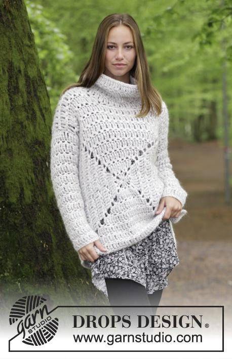 Crochet sweater woman, crochet top, pullover alpaca, clothing autumn ...