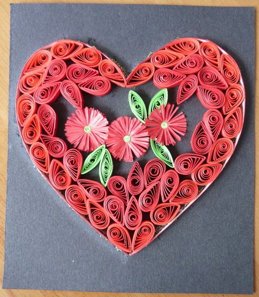 Quilling heart quilling pinterest quilling paper for Big quilling designs