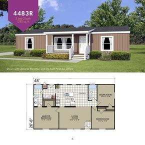 Champion Lindsay Ca 3 Bedroom Manufactured Home Le4483r For 65487 Model Le4483r From Homes Direct Wohnu My House Plans House Design Pictures House Plans