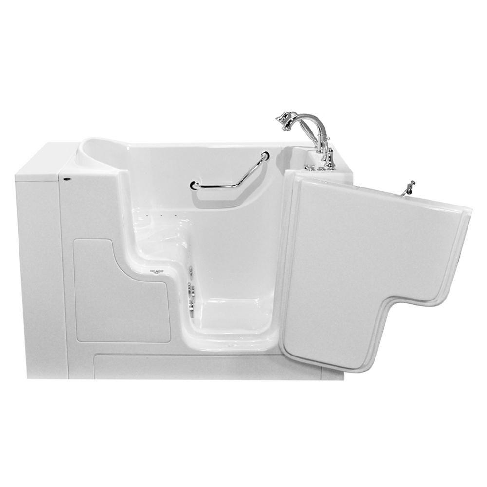 American Standard Gelcoat Value Series 51 in. Walk-In Whirlpool and ...