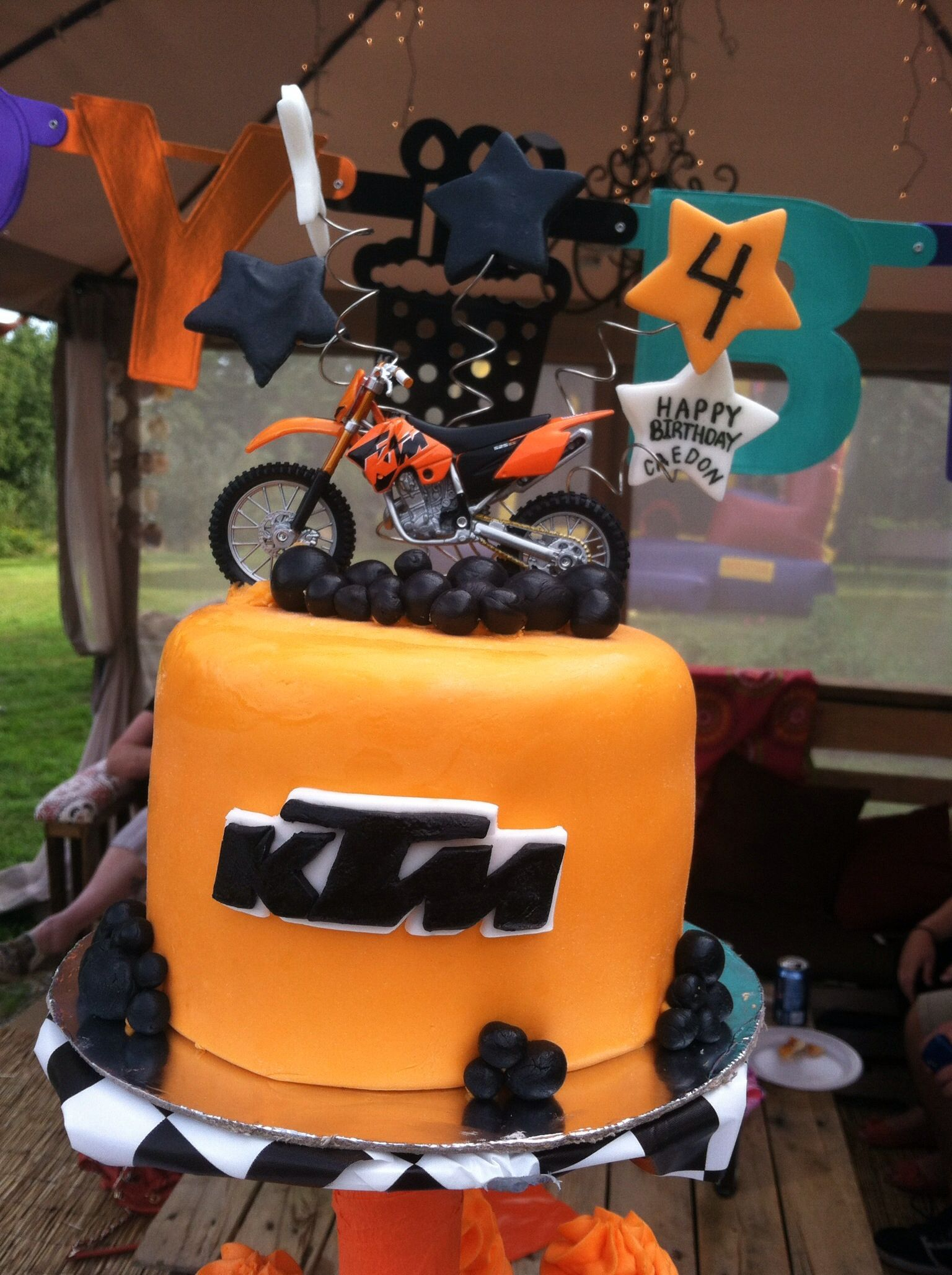 Phenomenal Ktm Dirtbike Birthday Cake Would Be Great For Deegans 2Nd Funny Birthday Cards Online Overcheapnameinfo