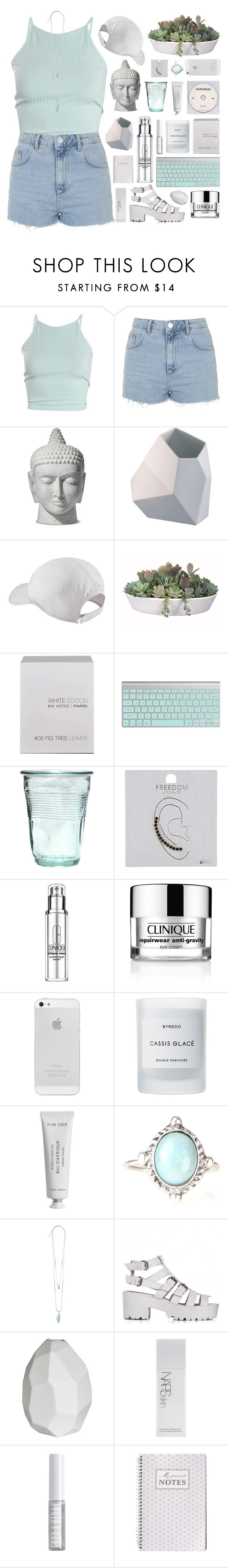 """""""WORK SONG // HOZIER"""" by alkalicaroline ❤ liked on Polyvore featuring Topshop, Rosenthal, KEEP ME, NIKE, VesseL, Ex Voto Paris, Clinique, Byredo, CB2 and NARS Cosmetics"""