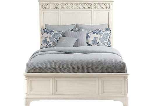 cindy crawford home bondi beach bisque 3 pc queen panel bed beds light wood - Furniture Bondi