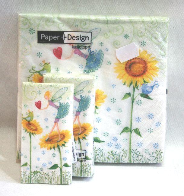 Tovaglioli in carta e fazzoletti di carta deco girasoli e for Carta decoupage