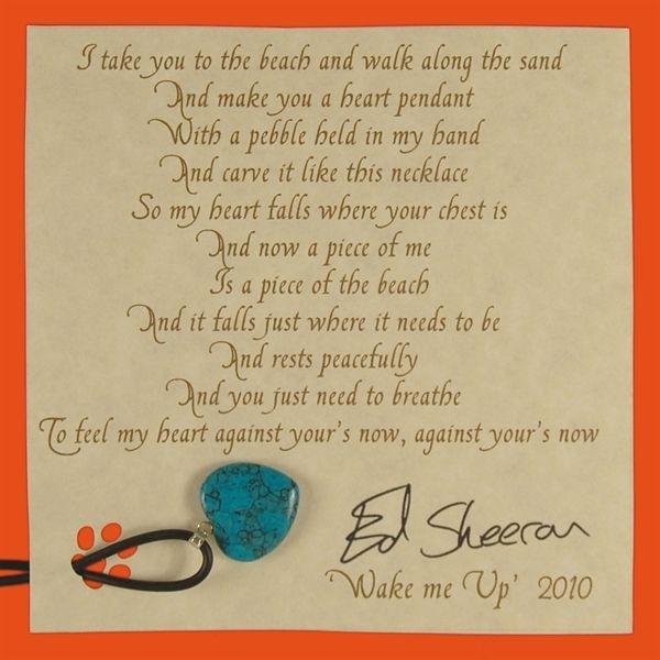 "Wake Me Up Heart Pendant-""Brights"" NEW COLOURS!. Buy online, http://www.edsheeranjewellery.com/"