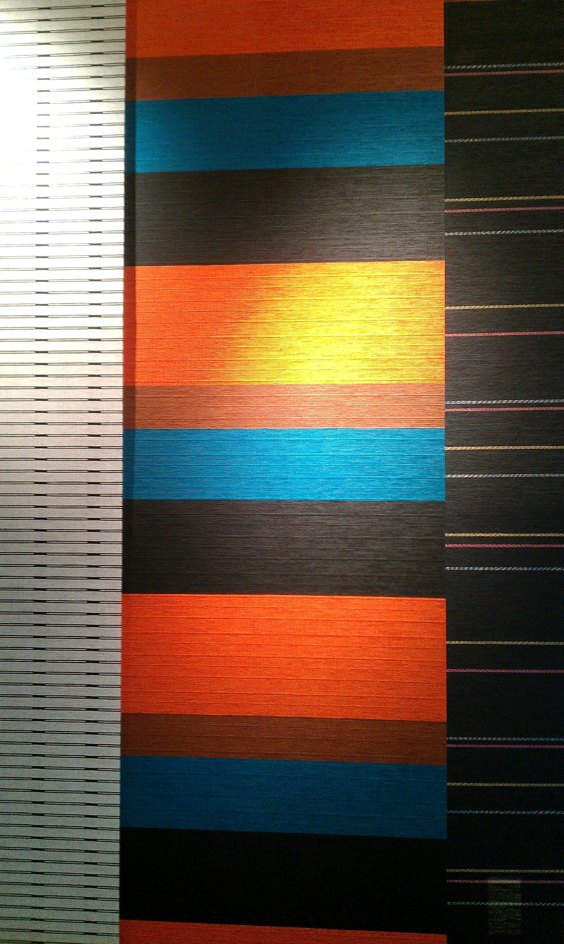 color scheme for living room: turquoise, burnt orange, navy blue