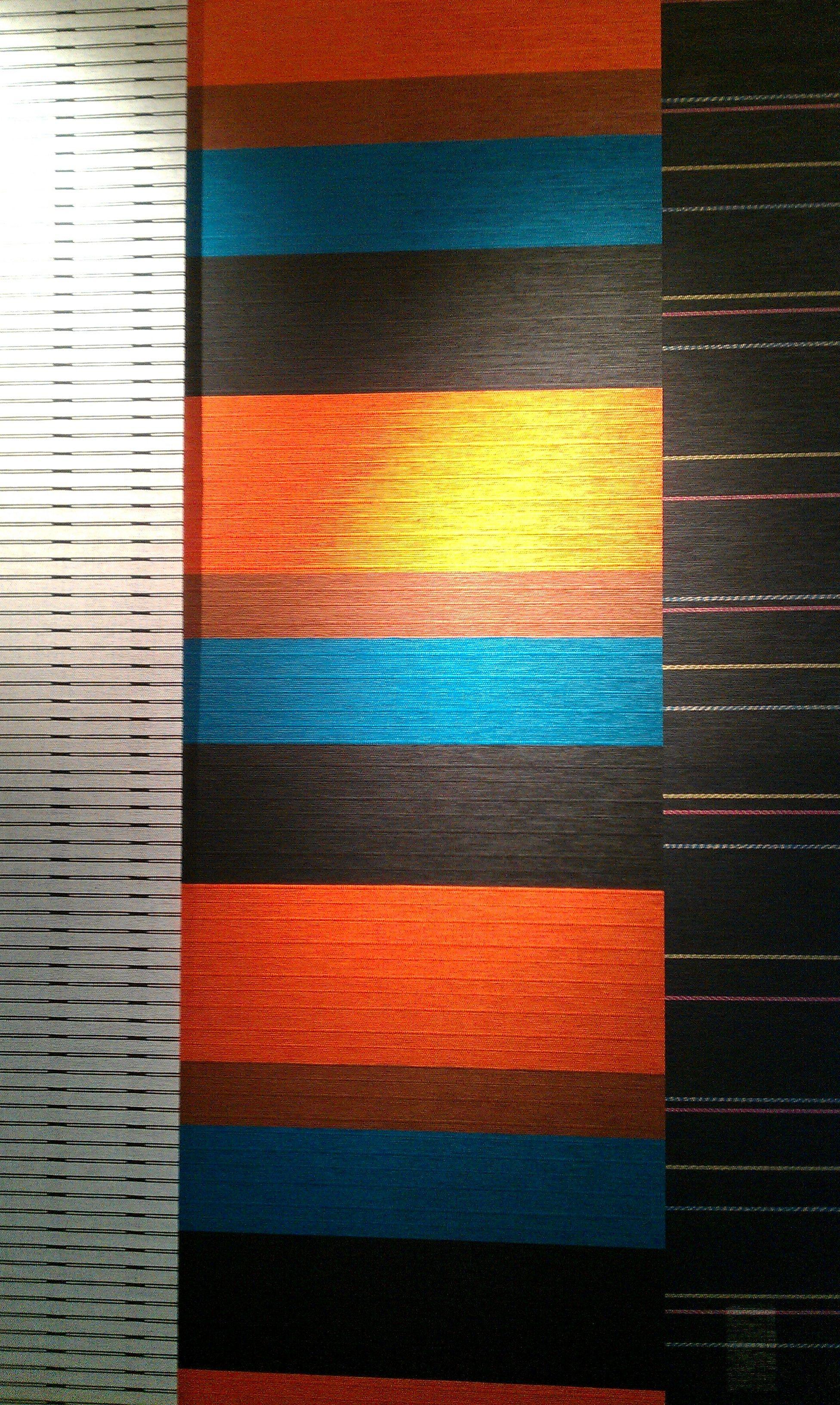 Color scheme for living room: turquoise, burnt orange