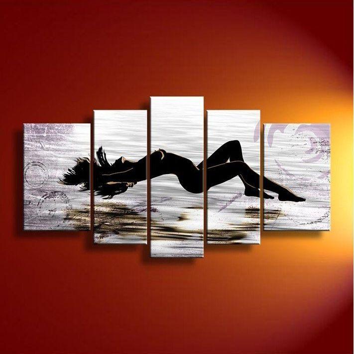 quadri con nudo di donna sexy dipinti a mano olio su tela