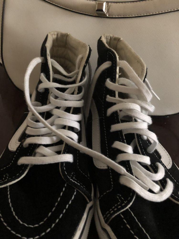 de5f89d64 VANS Sk8 Hi Black White Canvas Suede Lace Up Skate Shoes Men Size 6 Womens  7.5  fashion  clothing  shoes  accessories  mensshoes  athleticshoes (ebay  link)
