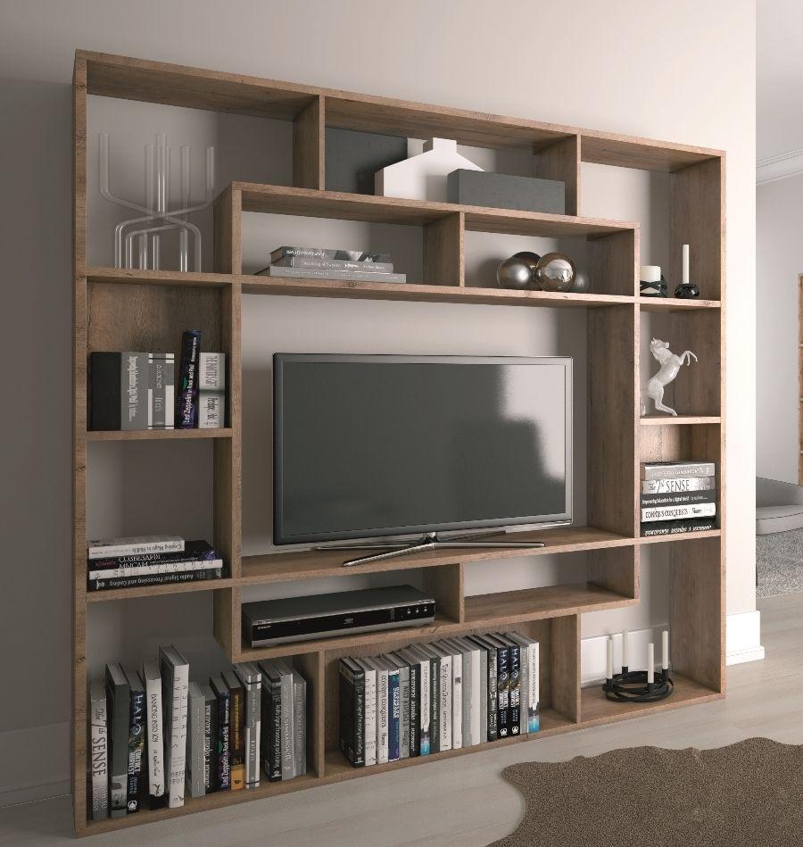 Creating A Wood Shelving Units Tv Stand Bookshelf Tv Wall