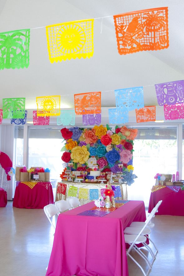 Beautiful My Sisters Colorful Mexican Inspired Baby Shower! | Dessert Stand Rentals ~  Los Angeles,