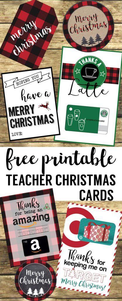 Best Teacher Christmas Gift Ideas. Easy DIY Christmas gifts for teachers,  friends, and family. Easy cute Christmas gift card holders. - Best Teacher Christmas Gift Ideas Free Printables From Paper Trail