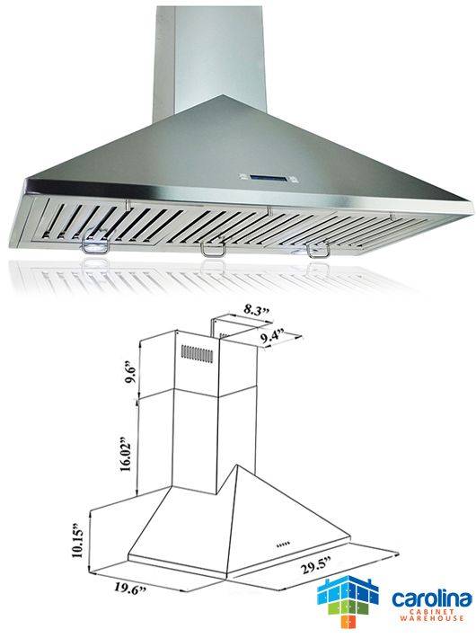 30 Wall Range Hood Minimum Required Ceiling Height 8 Feet Chimney Extension Yes Duct Size Rounded 6 Range Hoods Kitchen Cabinets Prices Best Range Hoods