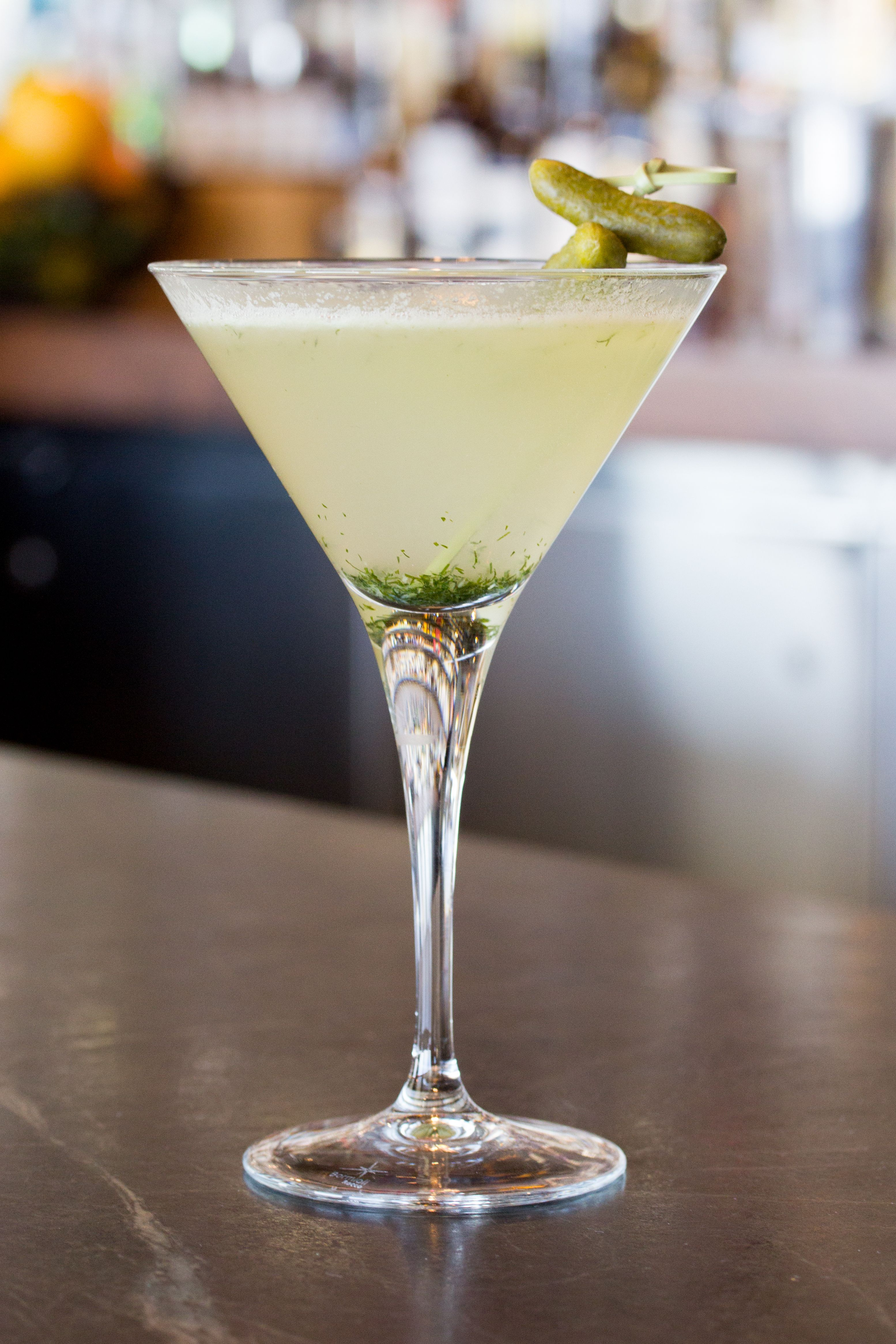 Dill Pickle - Dillon's Gin, Grand Marnier, White Cranberry, Lime
