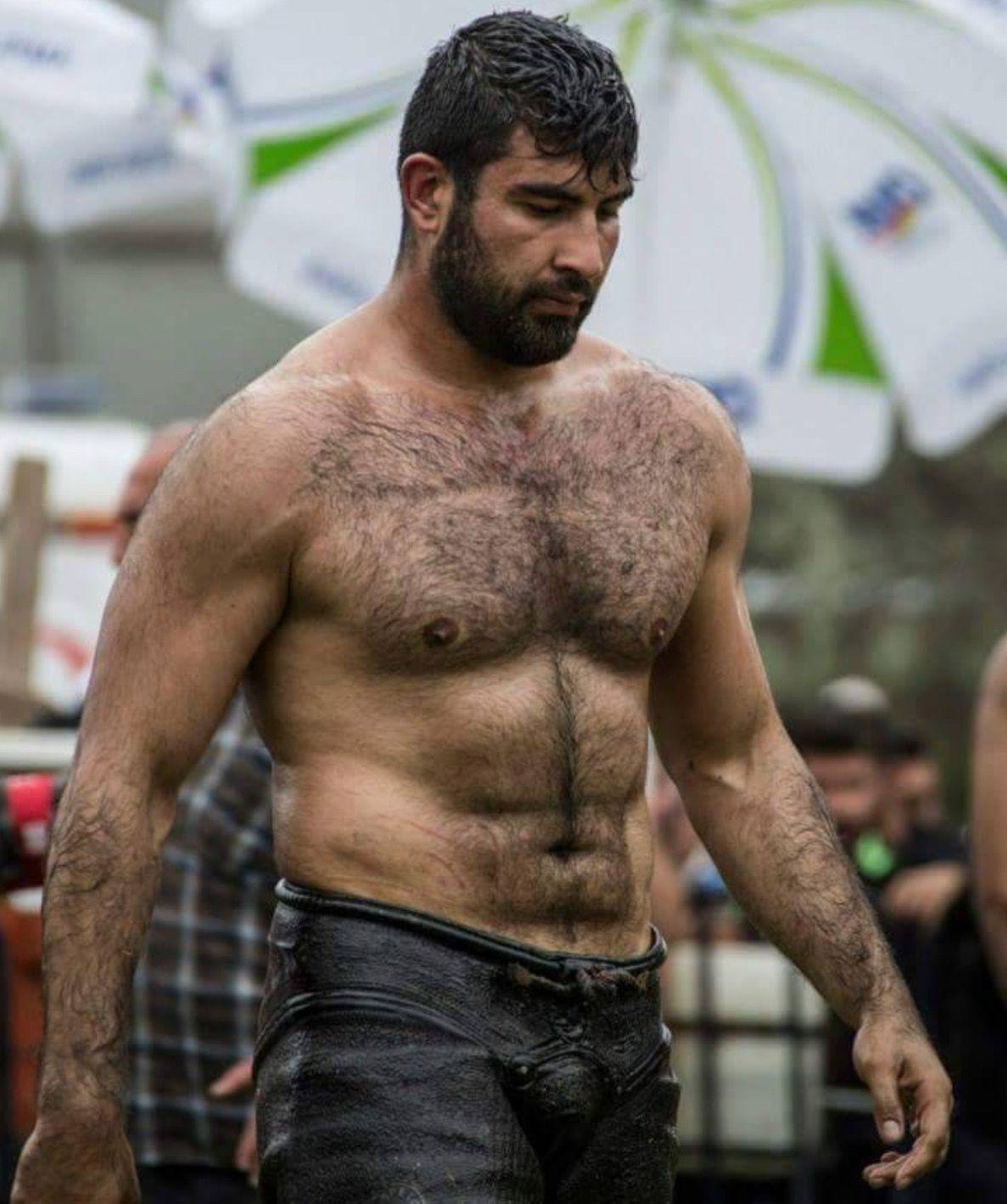 Hairy male bears
