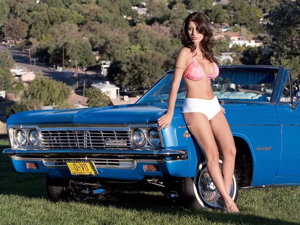 Amateur wife sexy muscle car babes