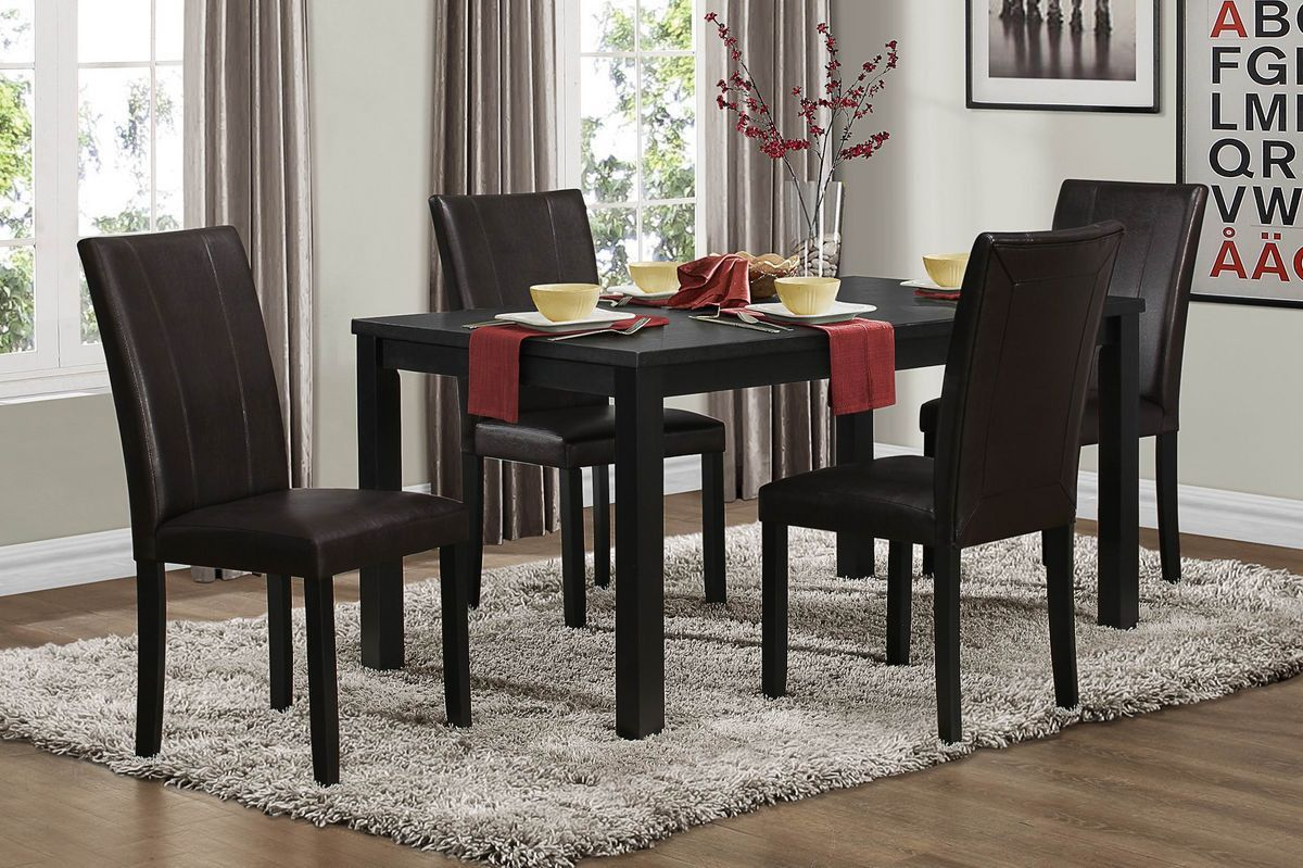 Home elegance dining table with chairs topline collection bk