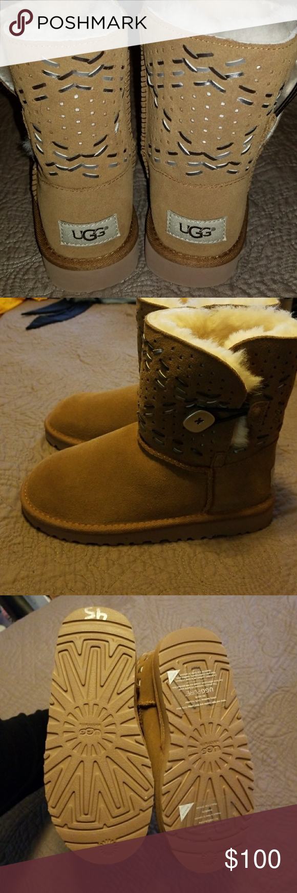 214f76e56e8 100%AUTHENTIC Uggs Girls size 1 Super cute uggs for girls size 1 New ...