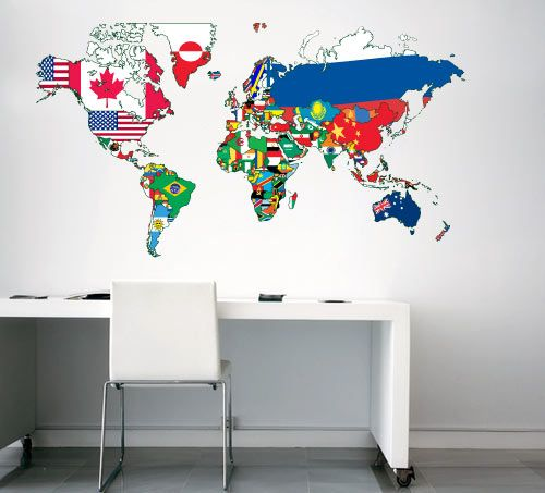 World maps vinyl decal world map flags wall decals home world maps vinyl decal world map flags wall decals home wallart decals gumiabroncs Image collections