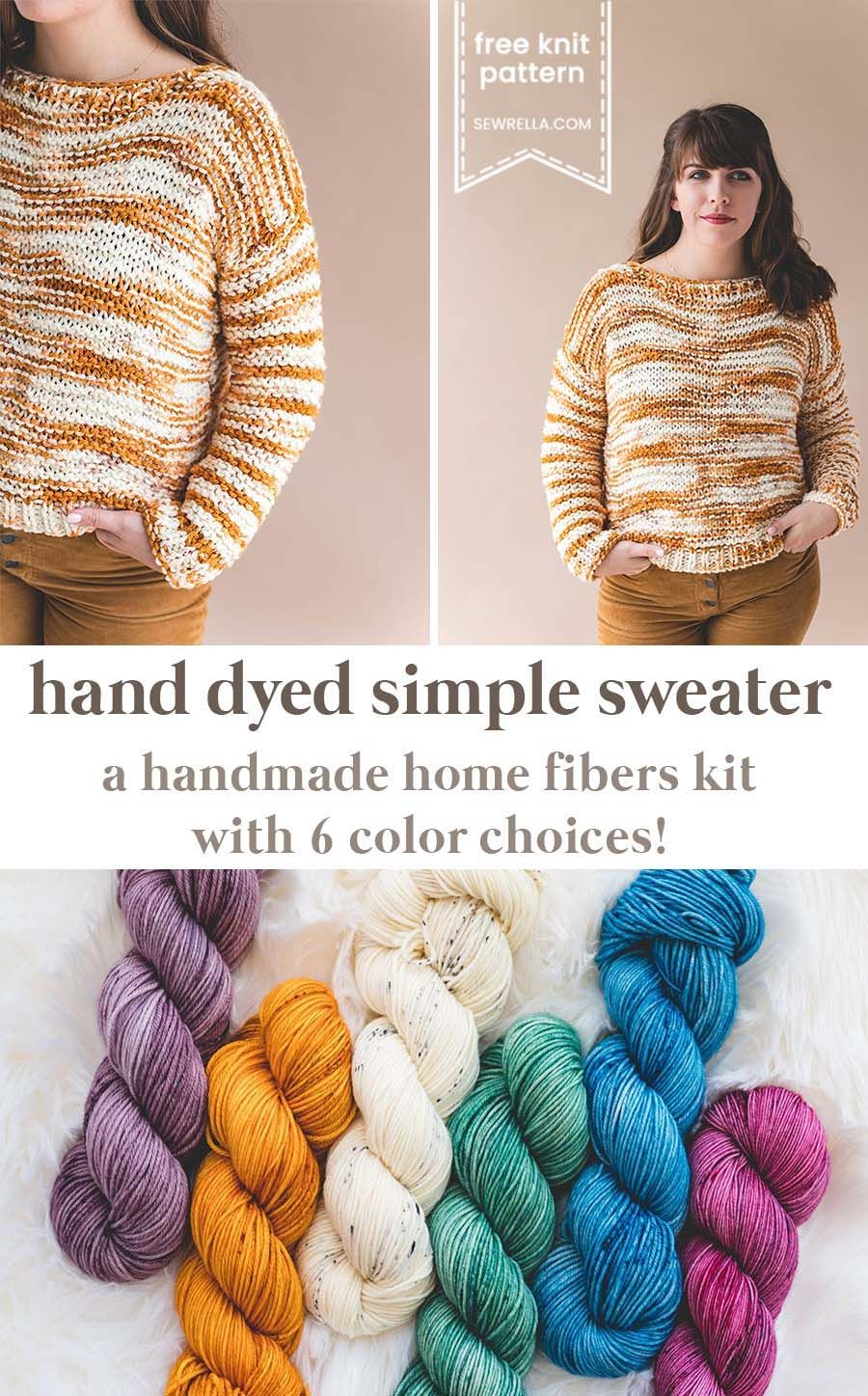 14a4bbc5e This simple knit sweater is a kit with my very own hand dyed yarn! Click