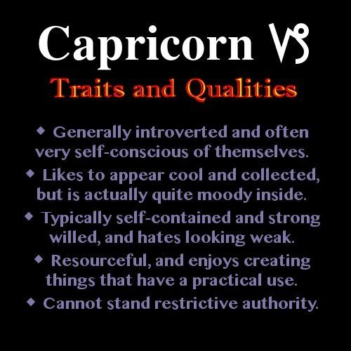 Traits And Qualities Of A Capricorn. On Point.