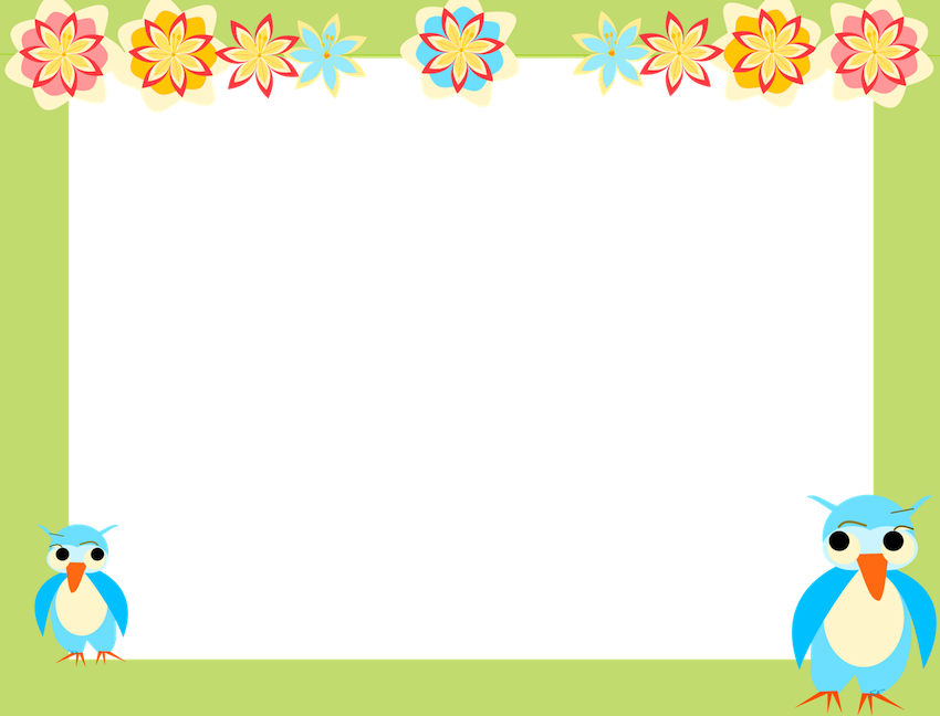 picture regarding Free Printable Borders and Frames Clip Art identified as borders and frames clip artwork owl sbooking paper for