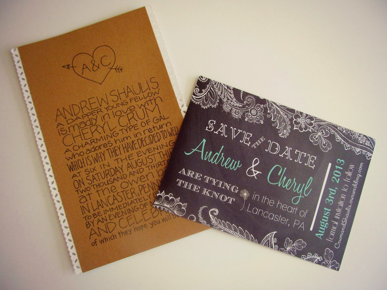 DIY Wedding Post #7! How to send out pretty invitations without breaking the bank.