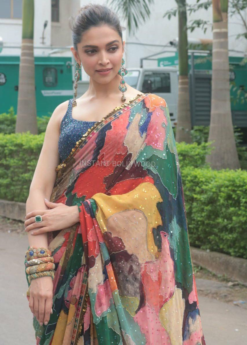 Pin by Being Lovely on Queen Deepika Padukone | Saree look ...