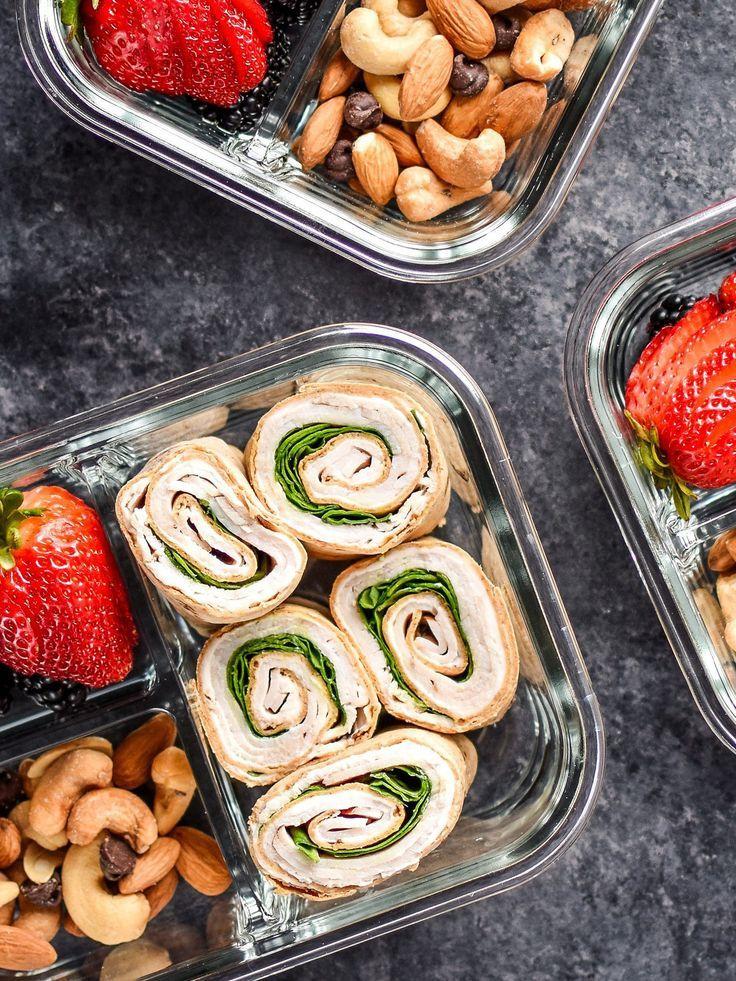 Easy Turkey Pinwheels Meal Prep #weeklymealprep