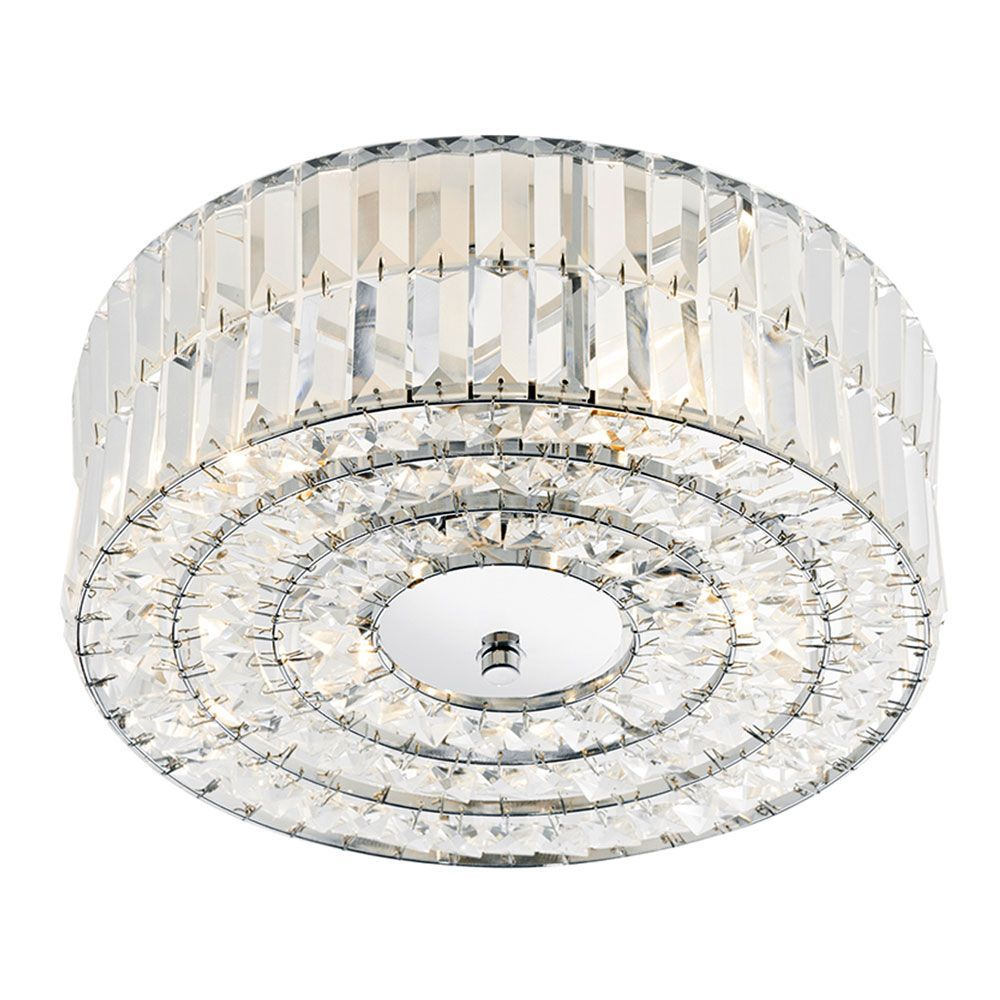 Dar Lighting Errol 4 Light Semi Flush Ceiling
