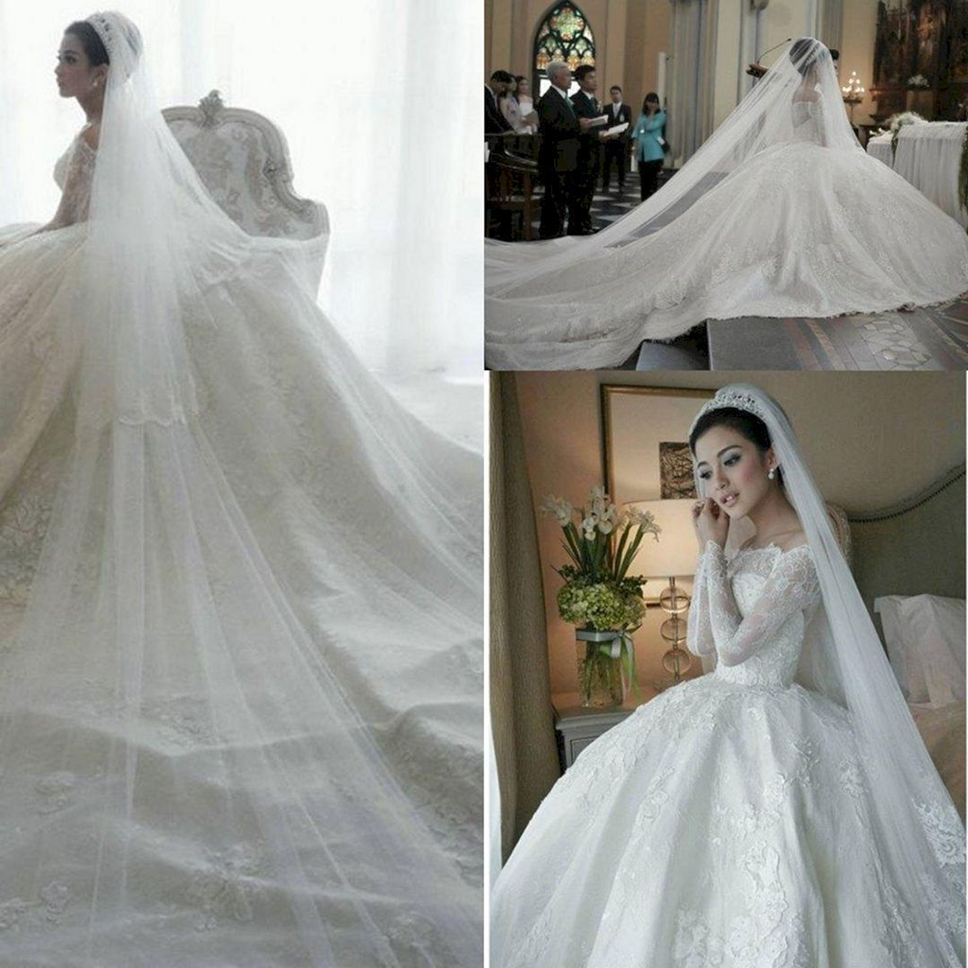 25+ Most Wonderful Wedding Ball Gown with Cathedral Trains