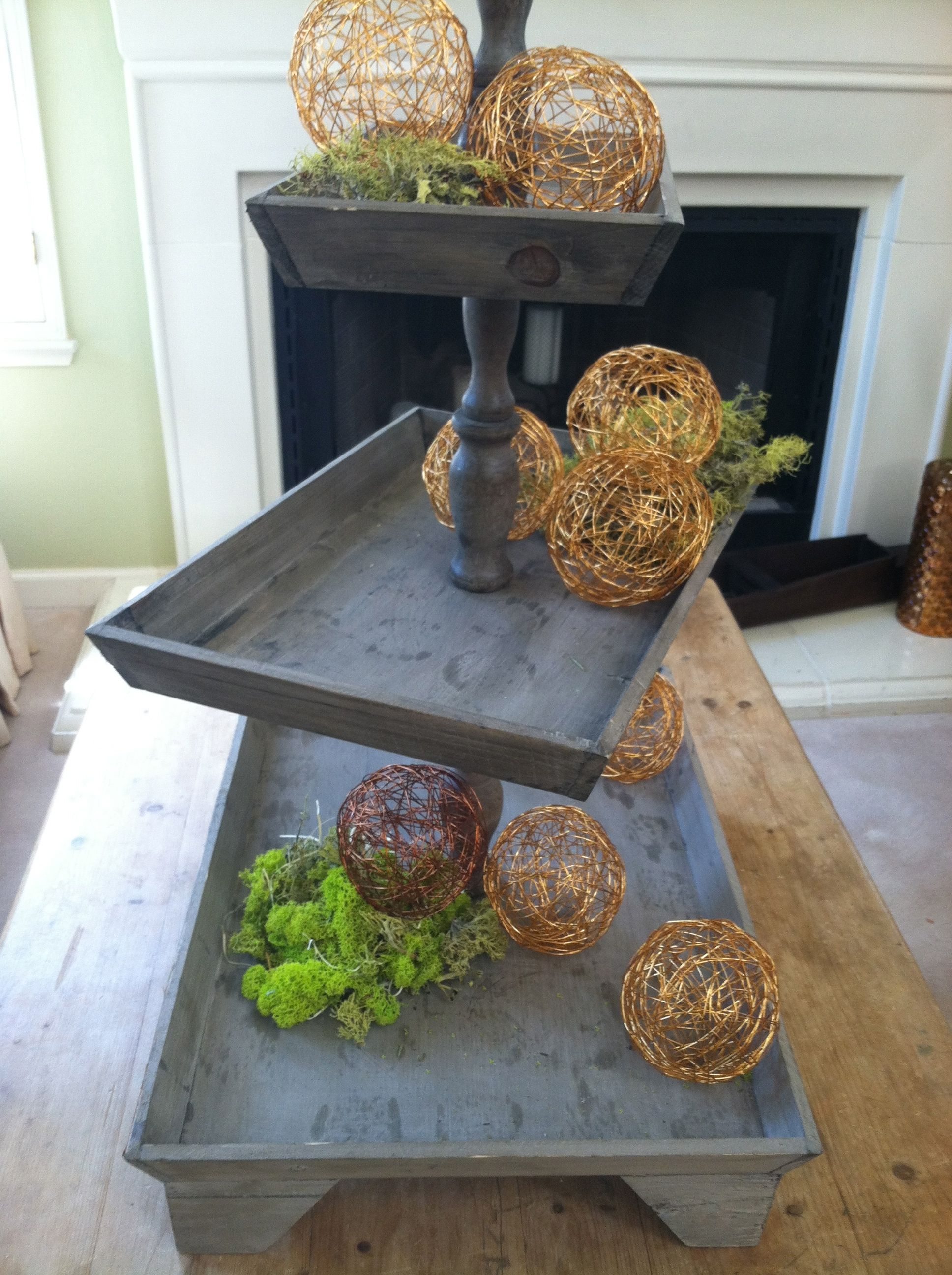Rustic Cupcake Stand Use Turq Trays From Hobby Lobby Wedding