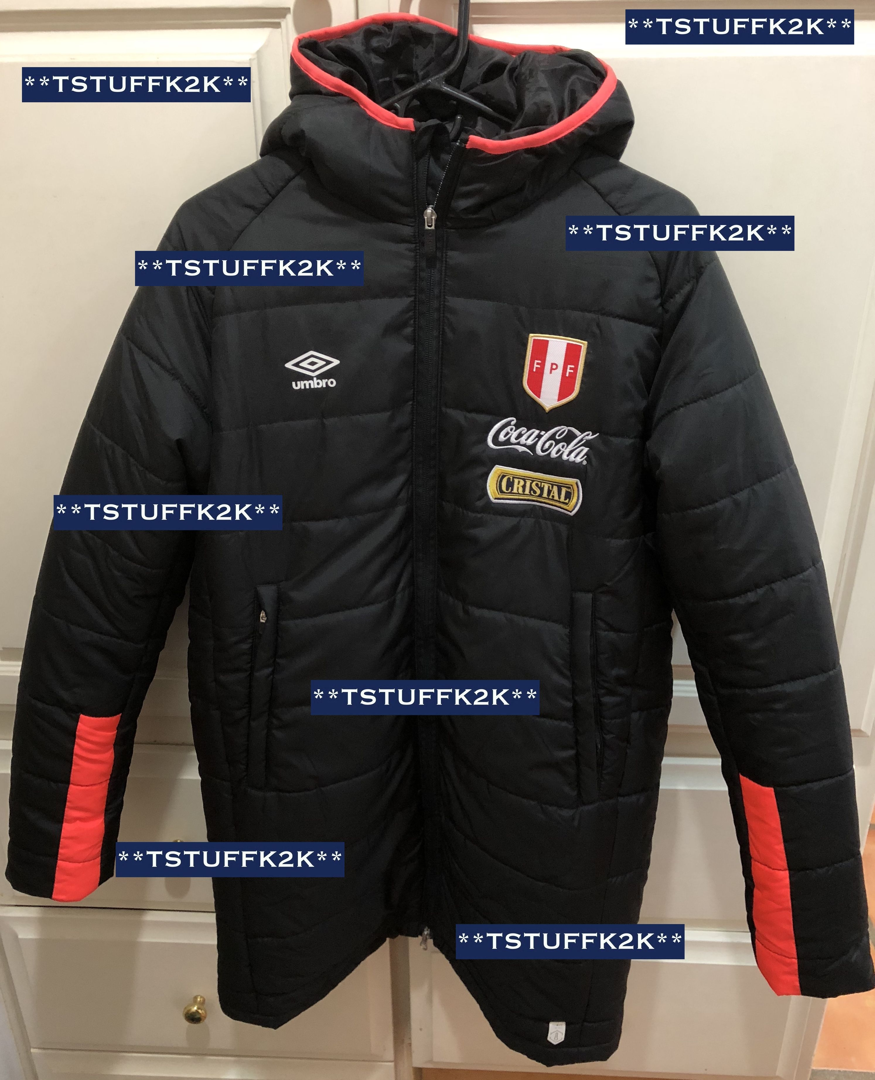 umbro long down jacket