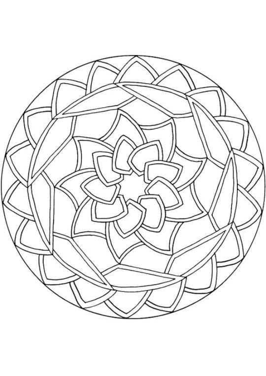 Coloriage Mandala nenuphare   - mandala - #coloriage #Mandala #nenuphare