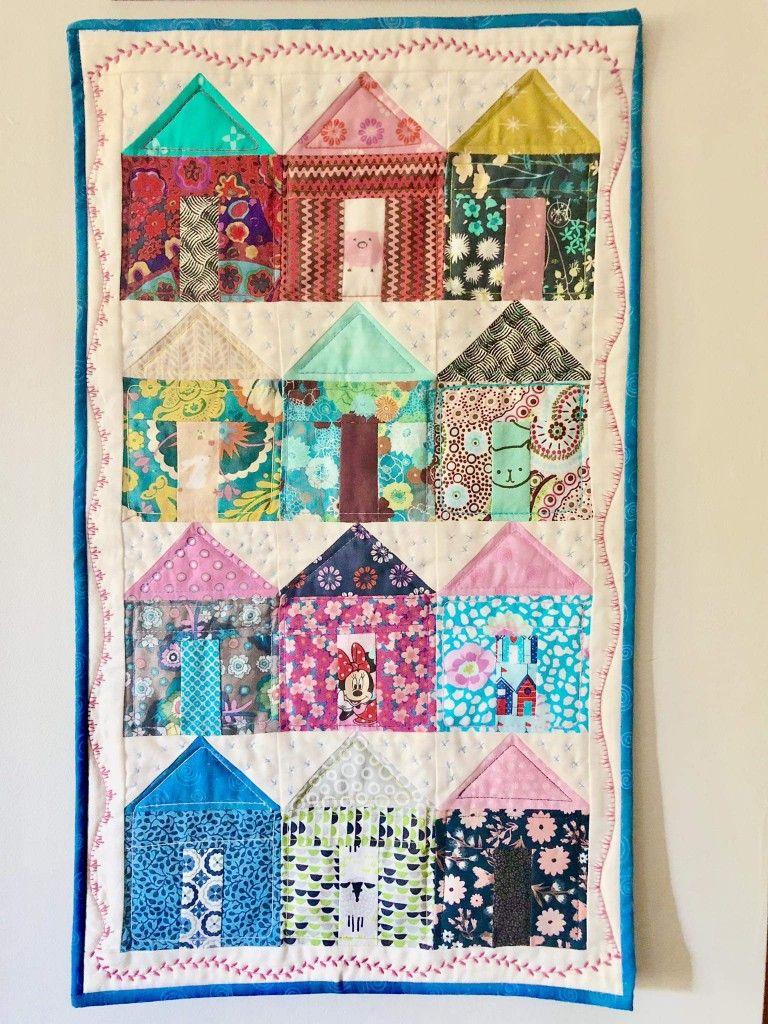 Tiny Houses Quilt Pattern : houses, quilt, pattern, House, Quilt-, Jenny, Quilt, Block,, Quilts,, Quilts