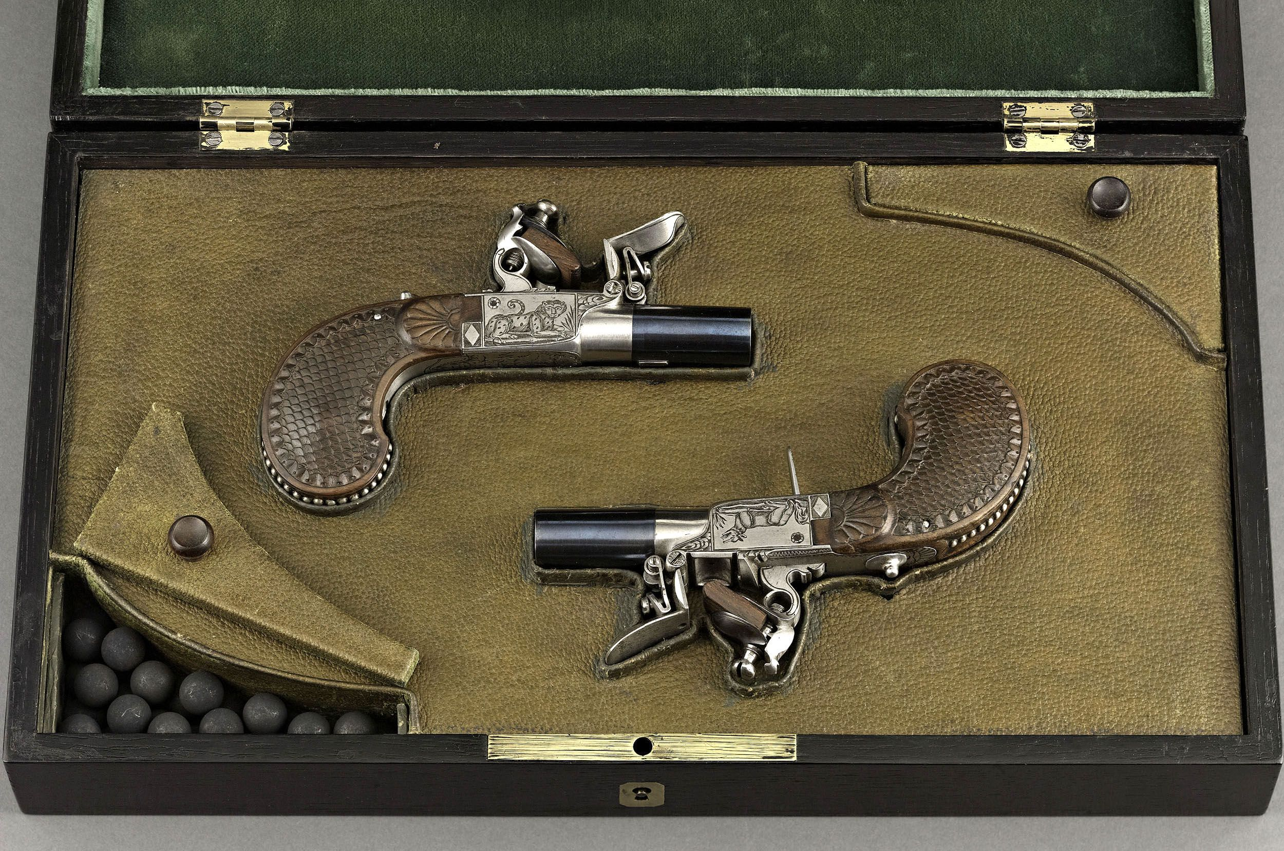 Pair of Cased Flintlock Traveling Pistols | Flintlock Pocket